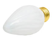 Bulbrite 421040 40F15WH 40W 130V F15 White Fiesta Decorative Bulb, E26 Base