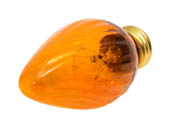 Bulbrite 421240 40F15A  (Amber) 40W 130V F15 Amber Fiesta Decorative Bulb, E26 Base