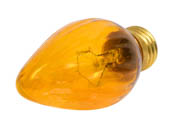 Bulbrite 421260 60F15A (Amber) 60W 130V F15 Amber Fiesta Decorative Bulb, E26 Base