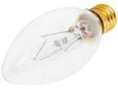 Bulbrite 400140 40CTC/25/3 (130V) 40W 130V SHORT Clear Blunt Tip Decorative Bulb, E12 Base