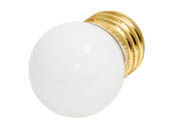 Bulbrite B702007 7.5S11W (White) 7.5W 130V S11 White Sign E26 Base