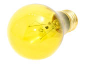 Bulbrite 105825 25A/TY (120V, Trans. Yellow) 25W 120V A19 Transparent Yellow E26 Base