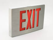 Simkar SK6600053 SDCB1RWA Aluminum LED Exit Sign Red Lettering Battery Backup