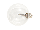 Bulbrite 40W Clear Krypton G16 Decorative Bulb, E12 Base