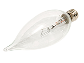 Bulbrite 25W 120V Clear Krypton Bent Tip Decorative Bulb, E12 Base