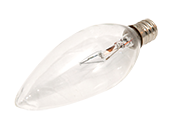 Bulbrite 40W 120V Clear Krypton Blunt Tip Decorative Bulb, E12 Base