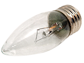 Bulbrite 40W 120V Clear Krypton Blunt Tip Decorative Bulb, E26 Base