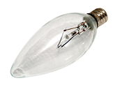 Bulbrite 60W 120V Clear Krypton Blunt Tip Decorative Bulb, E12 Base