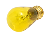 Bulbrite 11W 130V S14 Transparent Yellow Sign or Indicator Bulb, E26 Base