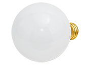Bulbrite 40W 130V G25 White Globe Bulb, E26 Base