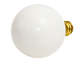 Bulbrite 25W 130V G12 White Globe Bulb, E12 Base