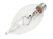 Philips 60W 120V Clear Bent Tip Long Life Decorative Bulb, E12 Base (Pack of 2)