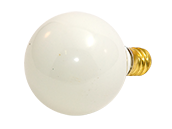 Bulbrite 10W 130V G12 White Globe Bulb, E12 Base