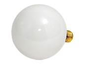 Bulbrite 40W 120V G16 White Globe Bulb, E12 Base