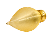 Bulbrite 40W 130V Amber ThreadSpun Antique Decorative Bulb, E26 Base