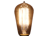 Bulbrite 40W 120V ST18 Nostalgic Decorative Bulb, E26 Base