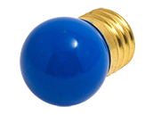 Bulbrite 7.5W 130V S11 Blue Sign E26 Base
