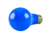 Bulbrite 60W A19 Bulb, E26 Base Blue - Availability for Public Safety Events