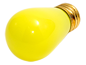Bulbrite 11W 130V S14 Yellow Sign or Indicator Bulb, E26 Base