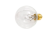 Bulbrite 25W 130V G12 Clear Globe Bulb, E12 Base