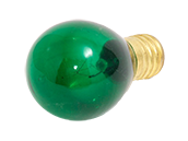 Bulbrite 10W 130V S11 Transparent Green Sign or Indicator Bulb, E17 Base