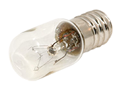 Bulbrite 8W 60V Clear T5 Appliance, Amusement Bulb, European E14 Base