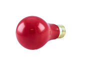Bulbrite 60W 120V Red A19 Bulb, E26 Base