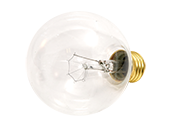 Bulbrite 40W 130V G25 Clear Globe Bulb, E26 Base