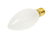 Bulbrite 25W 130V Frosted Blunt Tip Decorative Bulb, European E14 Base