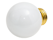 Bulbrite 40W 125V G16 White Globe Bulb, E26 Base