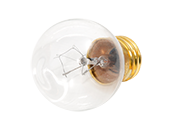 Bulbrite 40W 125V G16 Clear Globe Bulb, E26 Base