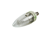 Litetronics 5W Clear C11 Dimmable Cold Cathode Bulb, E12 Base