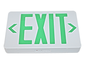 TCP Plastic 120 to 277V Single or Double Sided LED Exit Sign Battery Back up