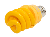 TCP 13W Yellow Spiral CFL Bug Bulb, E26 Base
