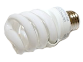 TCP 13W Warm White Spiral CFL Bulb, E26 Base