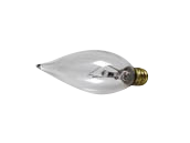 Bulbrite 25W 130V Clear Bent Tip Decorative Bulb, E12 Base