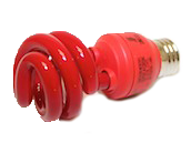 Long Star 13W Red CFL Bulb