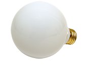 Bulbrite 25W 130V G25 White Globe Bulb, E26 Base