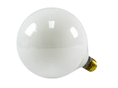 Bulbrite 100W 125V G40 White Globe Bulb, E26 Base