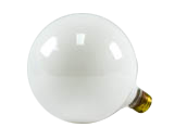 Bulbrite 150W 125V G40 White Globe Bulb, E26 Base