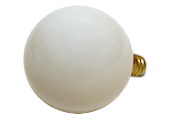 Bulbrite 15W 120V G16 White Globe Bulb, E12 Base
