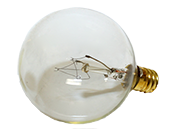 Bulbrite 15W 120V G16 Clear Globe Bulb, E12 Base