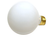 Bulbrite 40W 120V G25 White Globe Bulb, E26 Base
