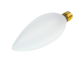 Bulbrite 40W 120V Frosted Blunt Tip Decorative Bulb, E12 Base