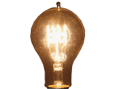 Bulbrite 40W 120V A21 Nostalgic Decorative Bulb, E26 Base