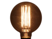 Bulbrite 40W 120V Clear Antique Replica Globe Bulb, E26 Base