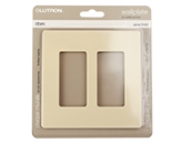 Lutron Claro Screwless 2-Gang Wallplate, Ivory