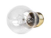 Halco 15W 130V A15 Clear Ceiling Fan or Appliance Bulb, E26 Base