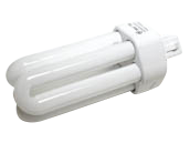 GE 18W 4 Pin GX24q2 Cool White Triple Twin Tube CFL Bulb