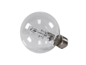 Bulbrite 72W 120V G25 Clear Globe Bulb, E26 Base